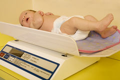 Infant wellness exam Stock Images