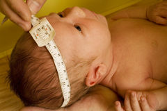 Infant wellness exam Royalty Free Stock Photography