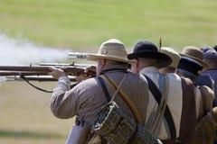 Infantaria da guerra civil Fotografia de Stock Royalty Free