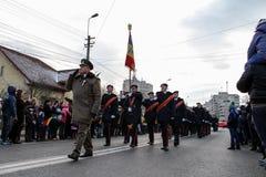 Infantaria militar romena da parada do dia nacional Imagens de Stock Royalty Free