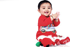 Infante 6-8 meses Imagem de Stock