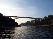 Infante Bridge, Porto. Infante Bridge over Douro river, in Porto, Portugal Royalty Free Stock Photos