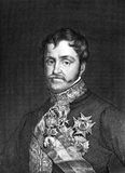 Infante Carlos, Count of Molina. (1788-1855) on engraving from 1859. Son of King Charles IV of Spain. Engraved by unknown artist and published in Meyers stock image