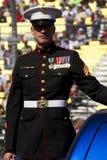 Infante de marina de Estados Unidos en desfile del día de veteranos fotos de archivo libres de regalías