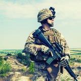 Infante de marina de los E.E.U.U. foto de archivo libre de regalías