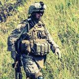 Infante de marina de los E.E.U.U. imagen de archivo libre de regalías