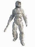 Infante de marina del espacio del guerrero del hielo stock de ilustración