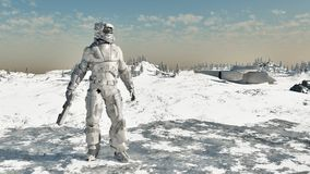 Infante de marina del espacio - guerrero del hielo Fotografía de archivo