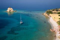 Infante de marina del paraíso en Grecia Foto de archivo libre de regalías