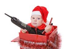 Infante na caixa de Natal #2 Imagens de Stock