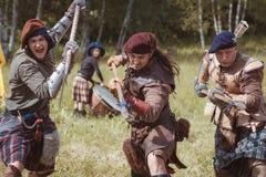 Infantería escocesa imágenes de archivo libres de regalías