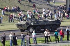 Infanterie bekämpfen vehicele Lizenzfreies Stockfoto