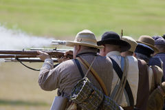 Infanterie de guerre civile Photographie stock libre de droits