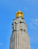 Infanterie-Denkmal in Brüssel, Belgien lizenzfreie stockfotos