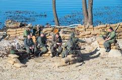 Infanterie et parachutistes Wehrmacht Photo libre de droits