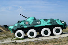 Infanterie het vechten voertuig Militair voertuig voor militairen op het slagveld royalty-vrije stock afbeeldingen