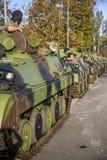 Infanterie-Kampffahrzeuge der serbischen bewaffneten Kräfte Stockbilder