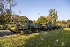 Infanterie-Kampffahrzeuge der serbischen bewaffneten Kräfte Lizenzfreies Stockfoto