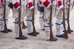 16. Infanterie-Regiment-Kastilien-Zeitraum gekleidet Lizenzfreie Stockfotos