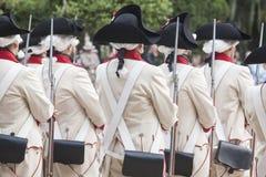 16. Infanterie-Regiment-Kastilien-Zeitraum gekleidet Lizenzfreie Stockfotografie