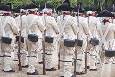 16. Infanterie-Regiment-Kastilien-Zeitraum gekleidet Lizenzfreie Stockbilder