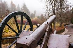 Infanteriekanone vom Peles-Schloss-Museumstor Lizenzfreie Stockbilder