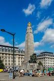 Infanteriminnesmärken av Brusselss Royaltyfri Foto