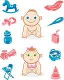 Ilustração do cuidado do bebê Fotografia de Stock