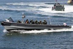 Infantes de marina del golpe violento del holandés Imagen de archivo libre de regalías