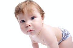 Infantile glance Stock Photo