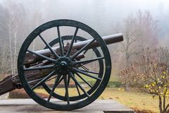 Infantry cannon from Peles castle museum gate.  royalty free stock photography