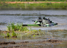 Infantry combat vehicle in water Royalty Free Stock Images