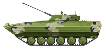 Infantry fighting vehicle. Vector color illustration of  IFV. (Simple gradients only - no gradient mesh Royalty Free Stock Image