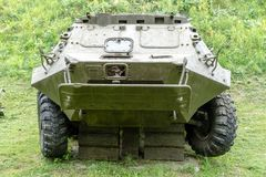Infantry fighting vehicle closeup. royalty free stock images
