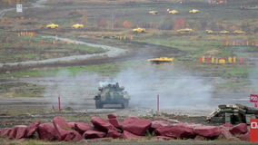 Infantry fighting vehicle stock video footage