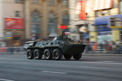 Infantry fighting vehicle during war parade Stock Images