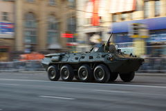Infantry fighting vehicle during war parade Royalty Free Stock Images