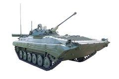 Infantry fighting vehicle. On white background isolated Royalty Free Stock Photo