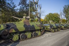 Infantry Fighting Vehicles Royalty Free Stock Photos