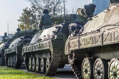 Infantry Fighting Vehicles of the Serbian Armed Forces Stock Photography
