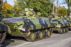 Infantry Fighting Vehicles Royalty Free Stock Image