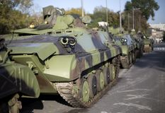 Infantry Fighting Vehicles Royalty Free Stock Images
