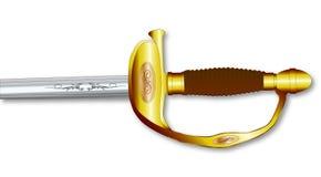 Infantry Swords Handle Stock Photo