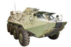 Infantry vehicle on white Stock Photo