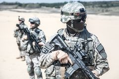 Infantrymen in action Stock Image
