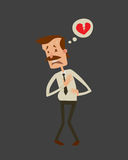 Infarct πίεσης επίθεσης καρδιών ατόμων κινδύνου καρδιών επιχειρηματιών διανυσματική επιβλαβής κατάθλιψη οινοπνεύματος κατανάλωσης Στοκ Φωτογραφία