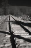 Infaredfotografie van Spoorwegsporen Stock Afbeelding