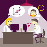 Infatuated man manager corresponds with sweetheart through Stock Images