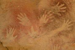 Infödda målningar, Patagonia, Argentina Arkivfoto