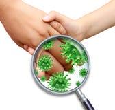 Infección contagiosa Foto de archivo libre de regalías